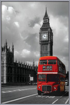 London red bus Kunst op hout