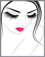 Lash extension beauty icon  Ingelijste poster