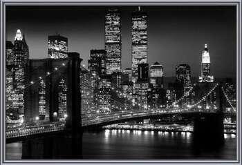 Manhattan - Night  Ingelijste poster