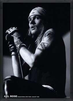Ingelijste poster Guns N Roses (Axl Rose) - Middletown, New York, August 1988