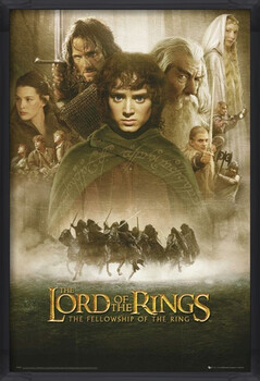 Ingelijste poster LORD OF THE RINGS - fellowship
