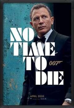 Ingelijste poster James Bond - No Time To Die - Azure Teaser
