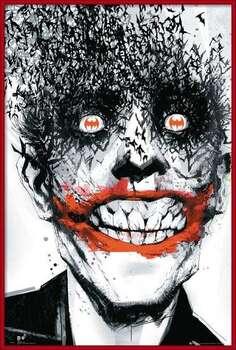 Ingelijste poster BATMAN Comic - Joker Bats