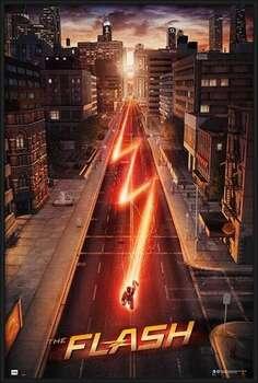Ingelijste poster The Flash - One Sheet