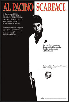 Ingelijste poster Scarface - movie