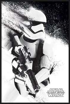 Ingelijste poster Star Wars Episode VII: The Force Awakens - Stormtrooper Paint
