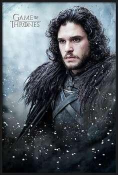 Ingelijste poster Game of Thrones - Jon Snow