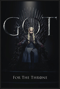 Ingelijste poster Game Of Thrones - Daenerys For The Throne