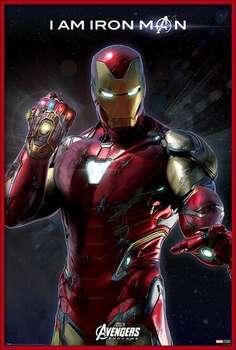 Ingelijste poster Avengers Endgame - I Am Iron Man