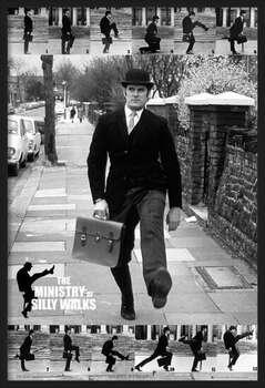 Ingelijste poster Monty Python - the ministry of silly walks