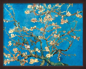 Ingelijste poster Almond Blossom - The Blossoming Almond Tree, 1890