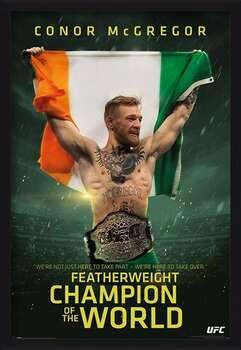 Ingelijste poster Conor McGregor - Featherweight Champion