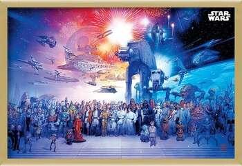Ingelijste poster Star Wars - Universe