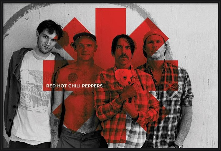 Red hot chilli peppers - Red asterix Poster