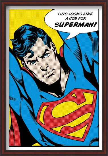SUPERMAN - looks like a job for Poster