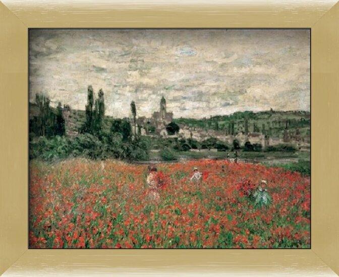 Poppy Field Near Vetheuil Kunstdruk