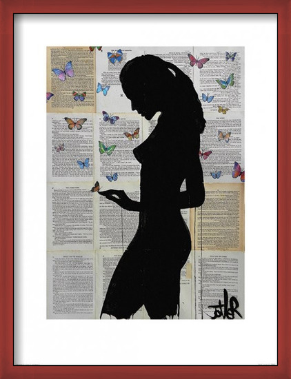 Loui Jover - Butterflies Kunstdruk