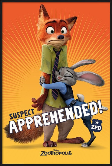 Zootropolis - Suspect Apprehended Poster