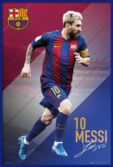 Barcelona - Messi 16/17 Poster