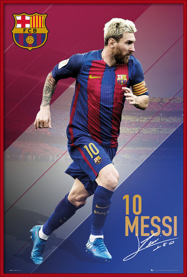 Barcelona - Messi 16/17 Poster