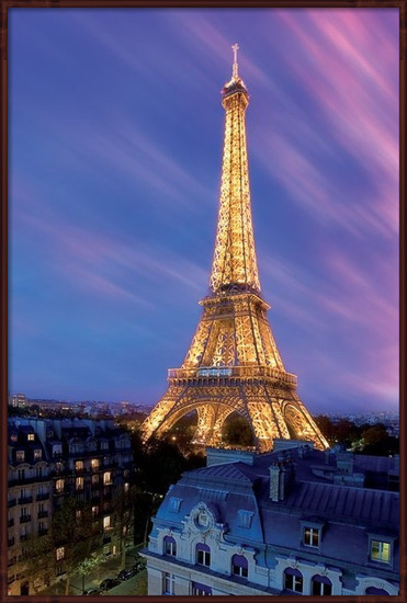 Eiffel tower - at dusk Poster