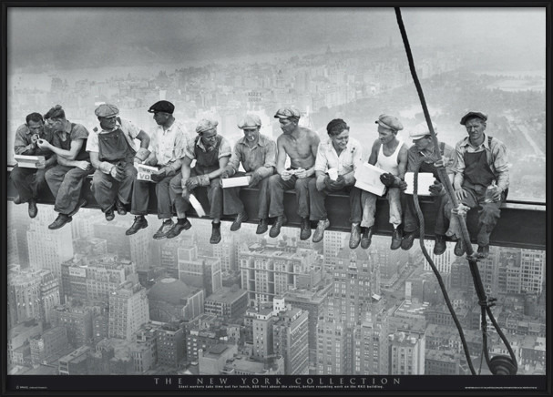 Men on girder - New York Poster