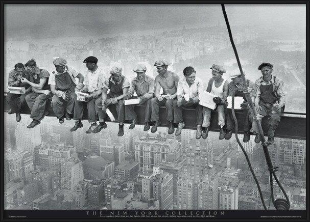 Men on girder - New York Poster
