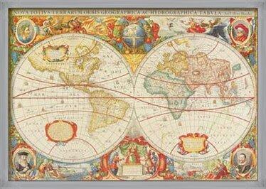 Antique Map Of The World Kunstdruk