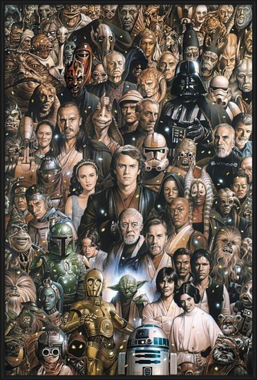 STAR WARS - characters Poster