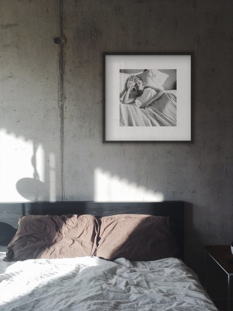 Marilyn Monroe - Bed Kunstdruk